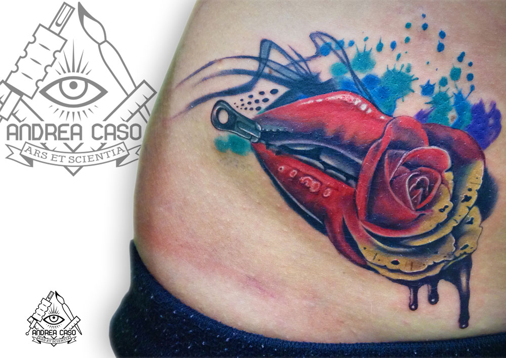 Favoloso Tatuaggio astratto a colori ⋆ Andrea Caso Tattooing TH86